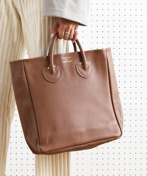 [FREAK'S STORE] YOUNG & OLSEN The DRYGOODS STORE/ヤングアンドオルセン EMBOSSED LEATHER TOTE M/エンボスレザートート