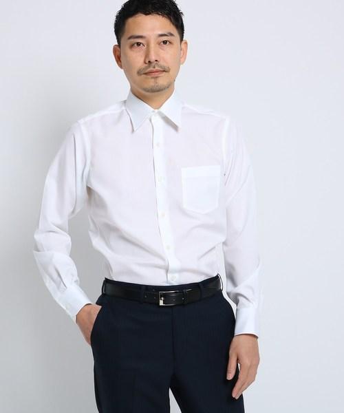 [TAKEO KIKUCHI] 100/2ブロードシャツ[ メンズ シャツ ワイシャツ 形態安定 無地 白 ]