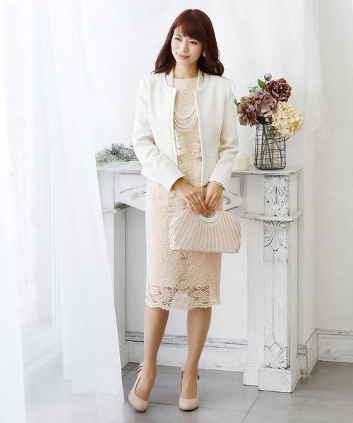 [PourVous] ドッキングレーススカートドレス・結婚式ドレス・二次会・成人式・同窓会・謝恩会・お呼ばれ対応フォーマルパーティードレス