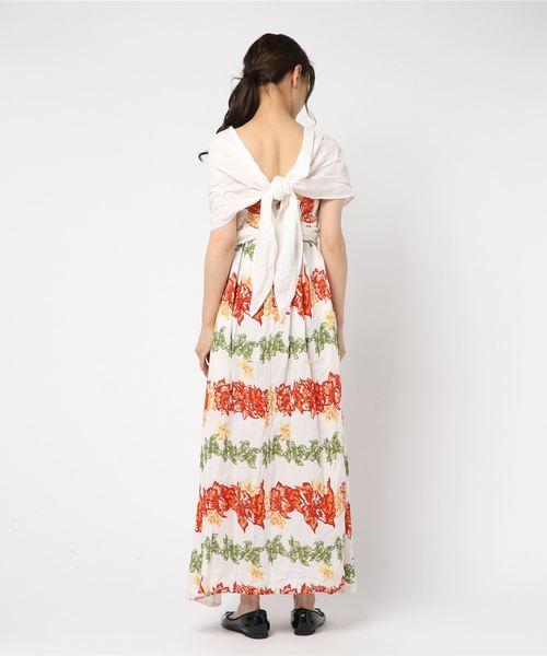 [チャイハネ] 【Kahiko】ハワイアンレイサッシュワンピース インフィニティドレス