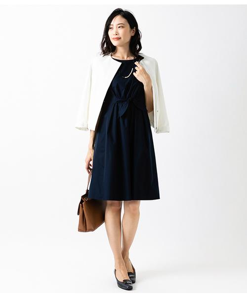[NEWYORKER] 【ウォッシャブル】Summer Time Dress/フロントリボン サマータイムドレス