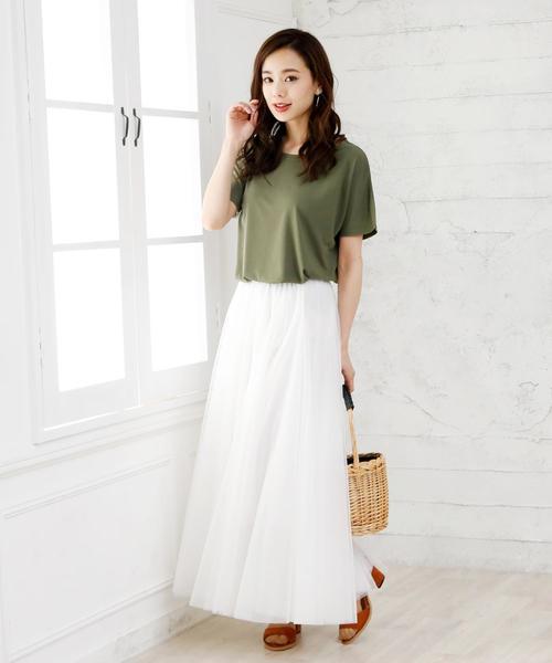 [Doula Doula] チュールロングスカート