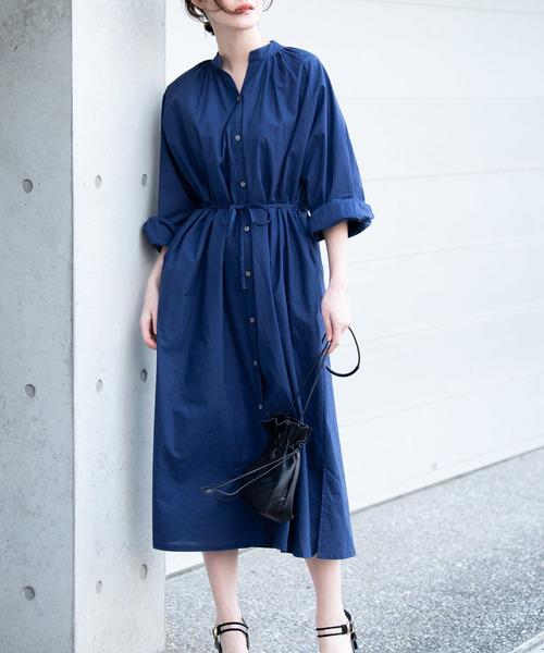 6月の軽井沢:コットンシャツワンピの服装