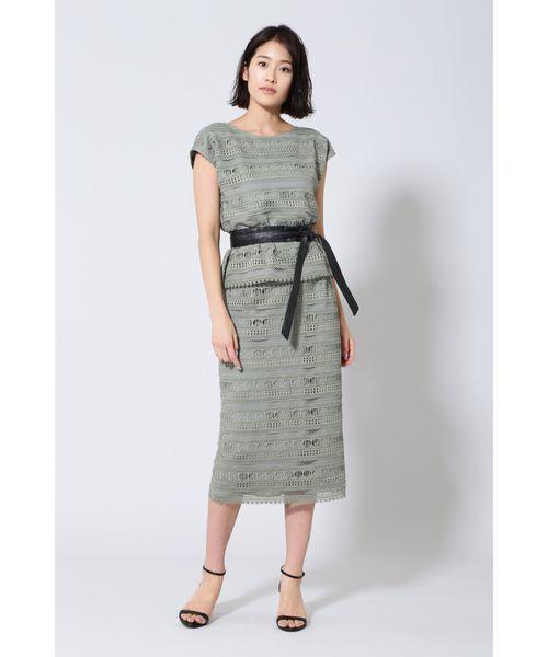 [BOSCH] 《B ability》幾何レースセットアップスカート