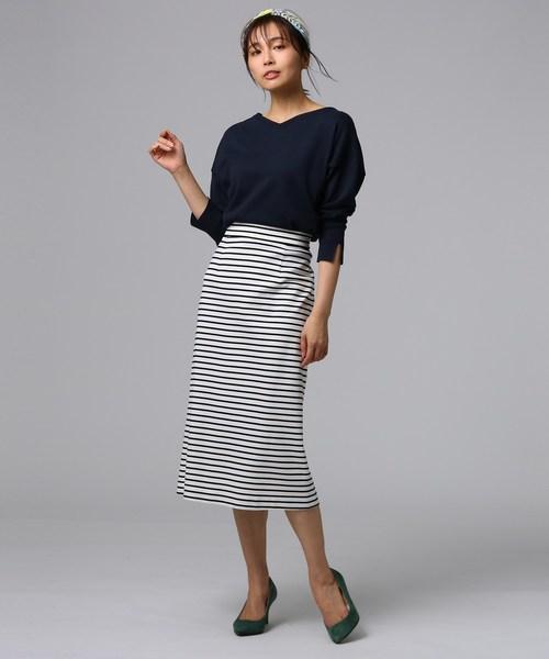 [UNTITLED] [L]グログランボーダースカート