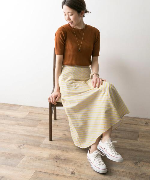 フレアスカートを使った6月コーデ
