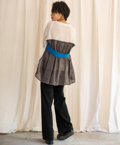 [LANDWARDS] 【Eimee Law】ベルト付きバックタックロングシャツ