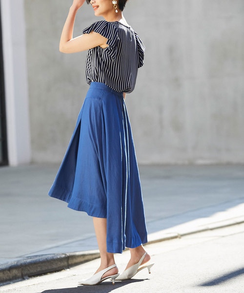 [tocco closet] ソフトデニムライクバックテールスカート