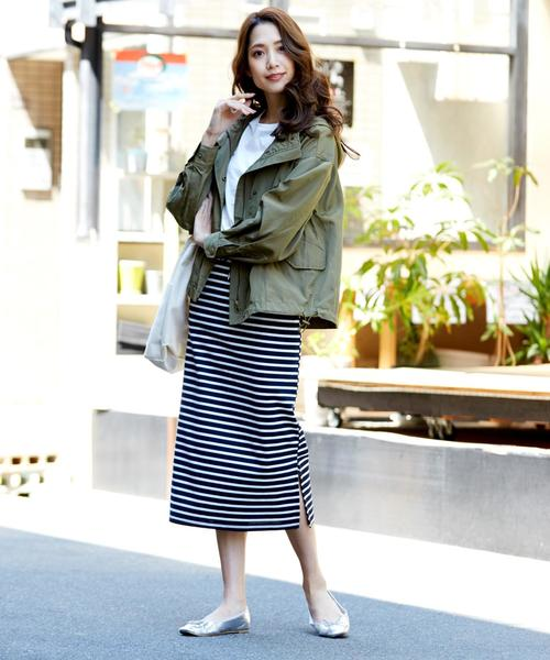 [Doula Doula] ボーダータイトスカート
