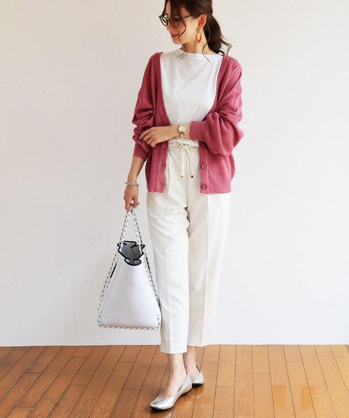 6月の軽井沢:テーパードパンツの服装