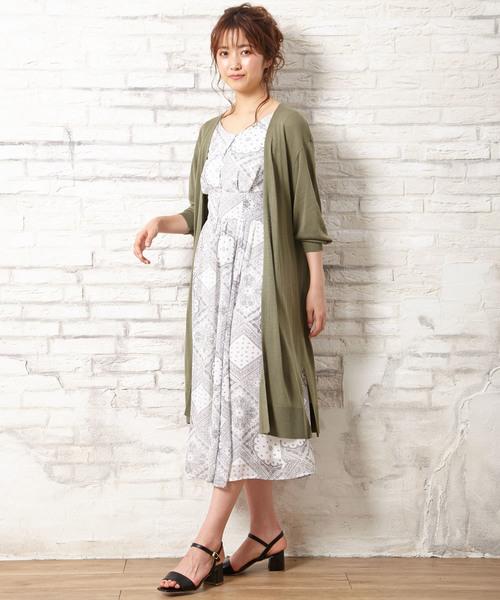 サンダル×ファッションワンピース