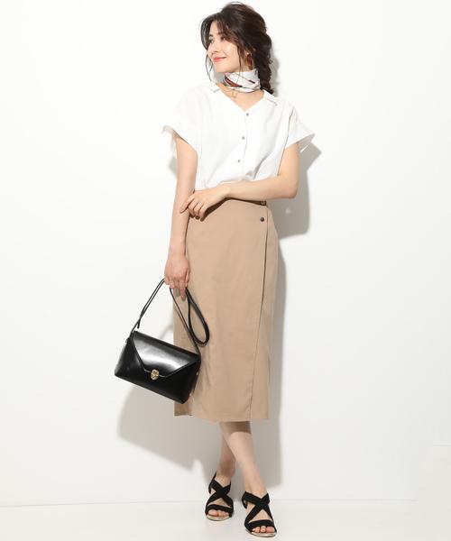 ぽっちゃりさんの夏のオフィスカジュアル:スカートコーデ5