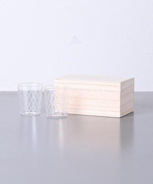 [UNITED ARROWS] 【UA30th】<木村硝子店(キムラガラステン)>切子模様 グラス 2SET