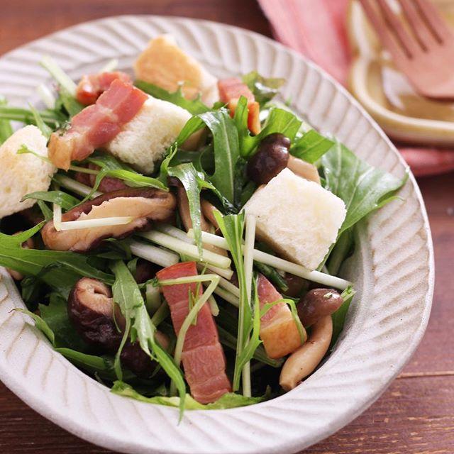 水菜を使った簡単な人気のお弁当料理13