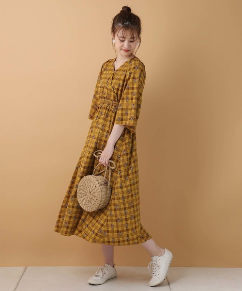 [one after another NICE CLAUP] 【ZOZO限定】カシュクールフレアロングワンピース