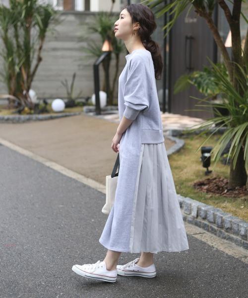 6月の軽井沢:バックプリーツワンピの服装