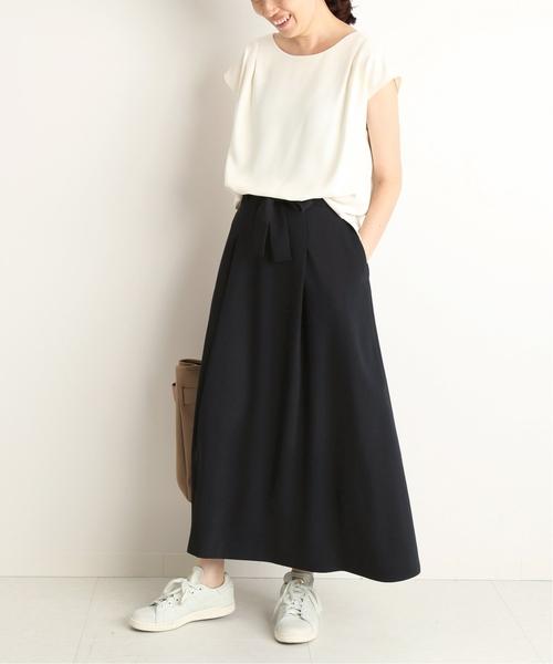 タックブラウス×マーメイドスカート