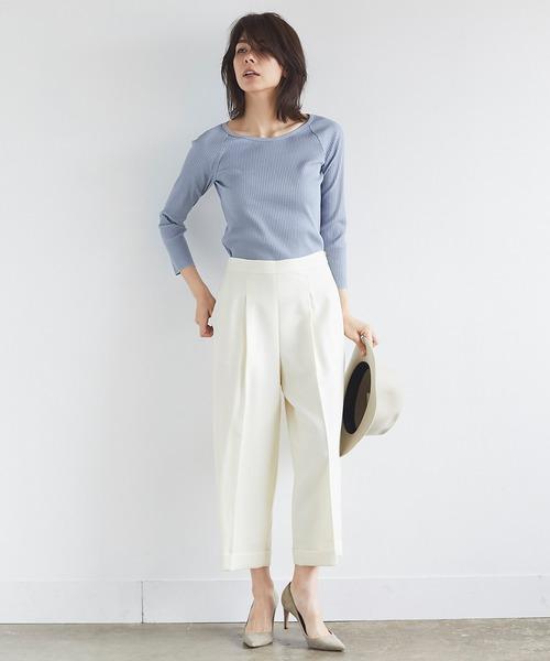 6月の軽井沢:ウールキュロットパンツの服装