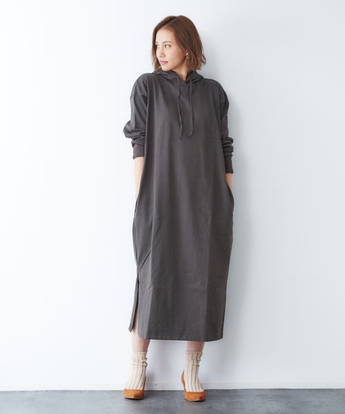 [Rouge vif la cle] Leminor ROBE CAPUCHE:スウェットワンピース