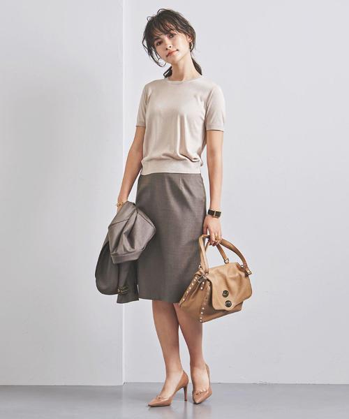 サマーニット×タイトスカート