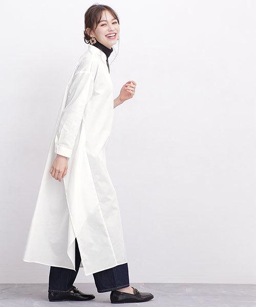 6月の軽井沢:ロングシャツワンピの服装