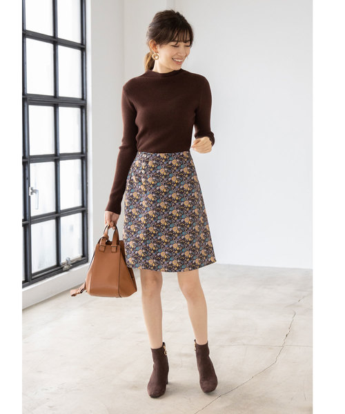 [tocco closet] スナップデザイン花柄スカート