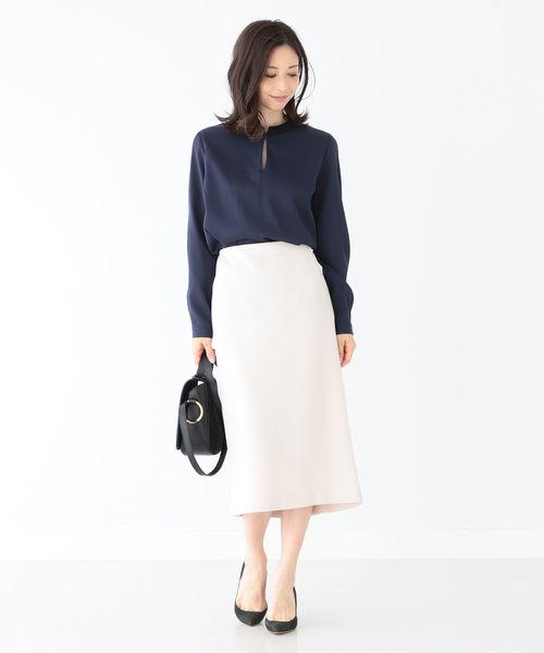 [BEAMS WOMEN] Demi-Luxe BEAMS / ミラノリブ タイトスカート