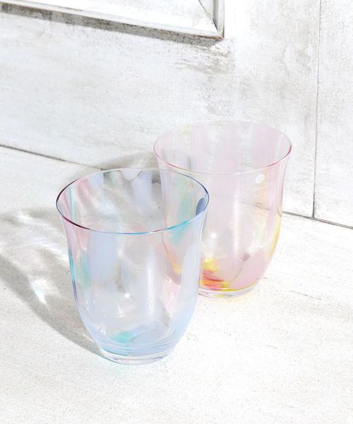 涼しげできれいなガラスグラスペアセット