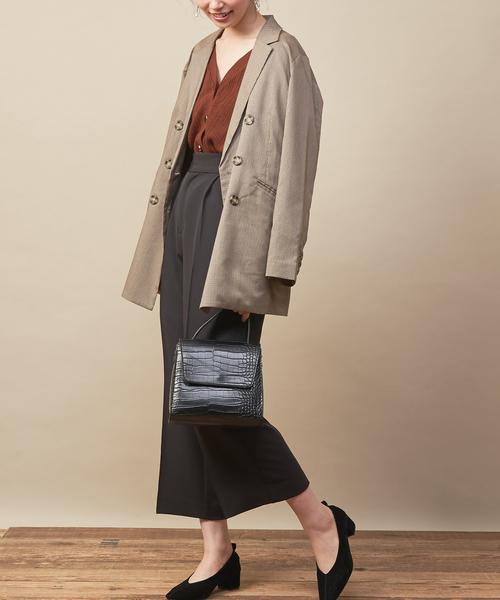 [natural couture] PP美シルエットワイドパンツ