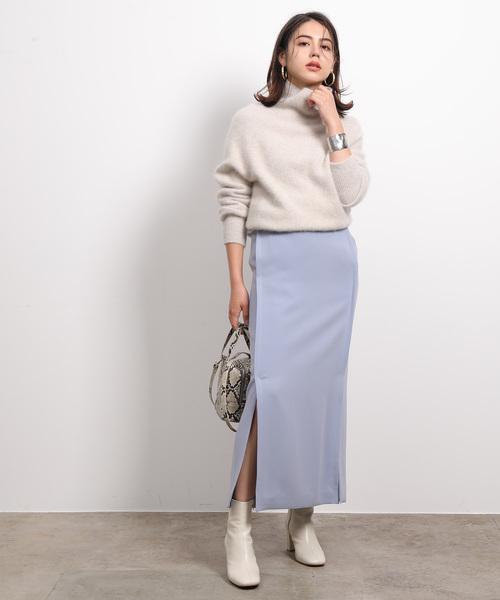 [ROPE'] 【2WAY】ダブルクロスサスペンダータイトスカート