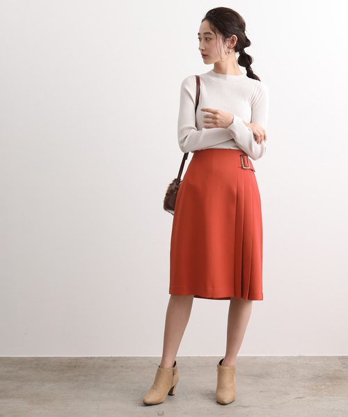 [ViS] 【EASY CARE】サイドプリーツフレアスカート
