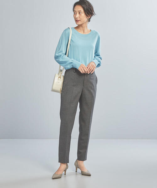[green label relaxing] 【WORK TRIP OUTFITS】D T/W バーズアイ ノーカラージャケット 組下パンツ