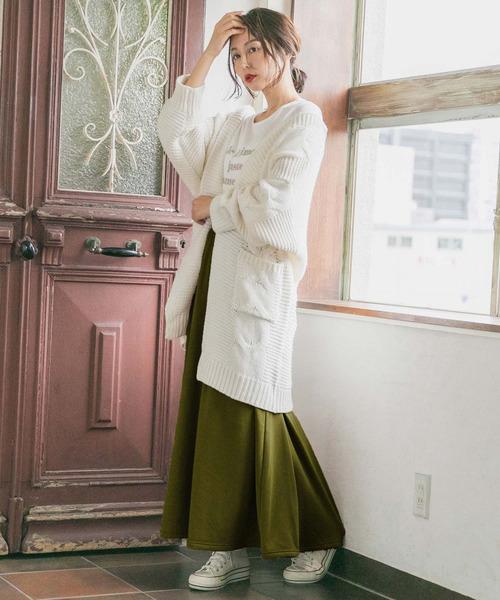 6月の軽井沢:フレアスカートの服装