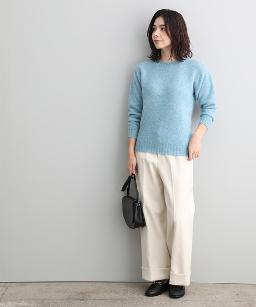 [ADAM ET ROPE'] 【LAURENCE J. SMITH】shaggy knit