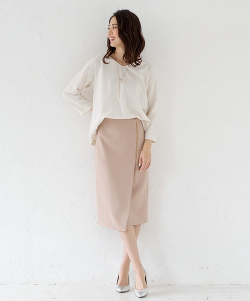 [Loungedress] ZIPラップスカート