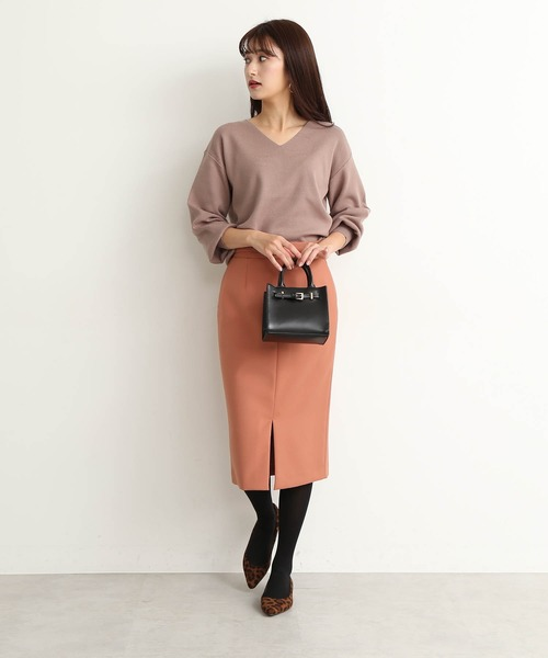 [N.(N. Natural Beauty Basic)] ◆ウエストベルト付カラータイトスカート