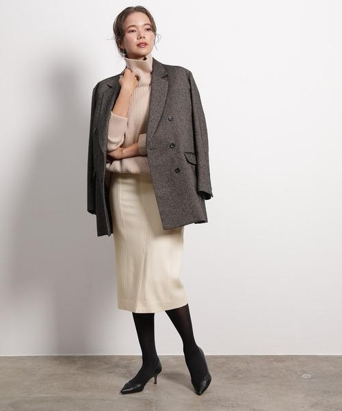 ツイードジャケット×タイトスカート