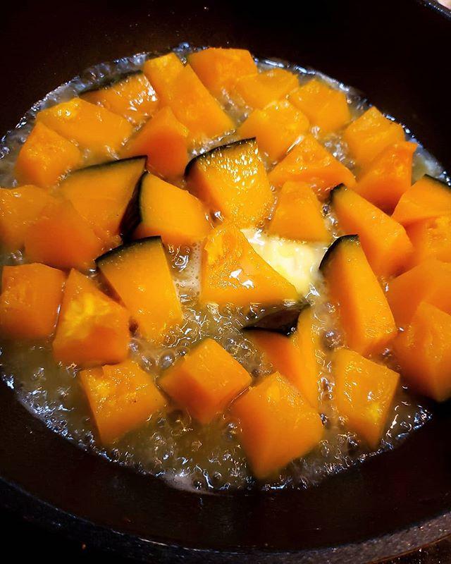 冷しゃぶの副菜にもう一品!塩バターかぼちゃ