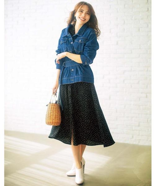 [GeeRA] 【20春新着】開衿デザインシャツワンピース