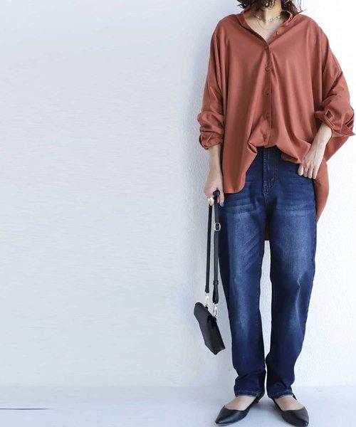 6月の軽井沢:カーブシルエットデニムの服装