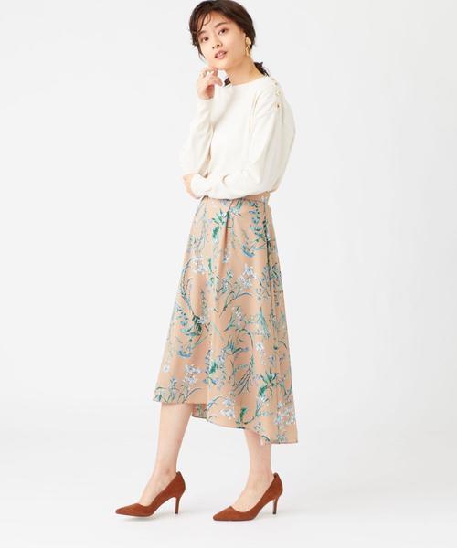 [EMMEL REFINES] ◎【WEB限定】FC ボタニカルプリントスカート / 花柄