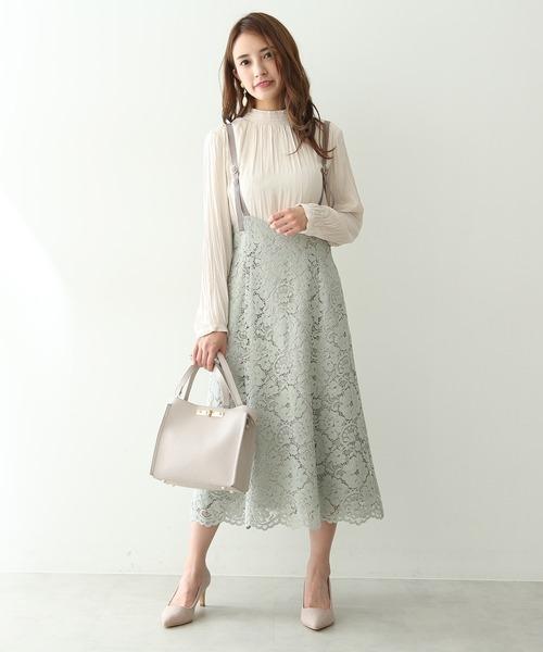 [PROPORTION BODY DRESSING] 【パープル:WEB限定カラー】コードレースジャンパースカート