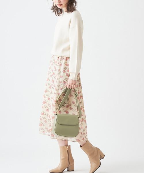 [natural couture] チューリップ柄スカート