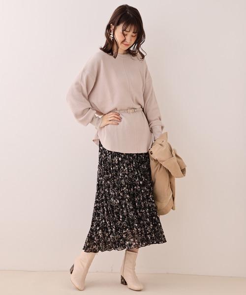 6月の軽井沢:プリーツスカートの服装