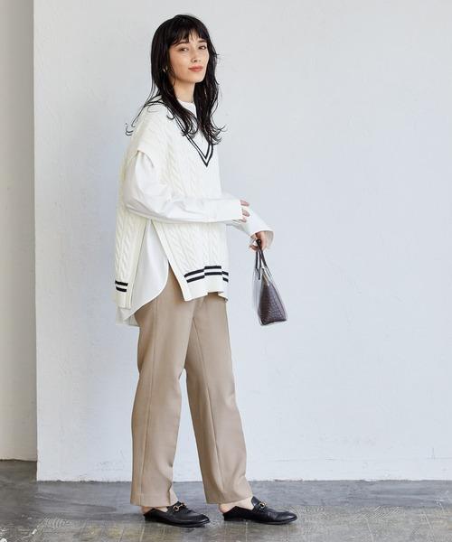 パンツを使ったレディースファッション3