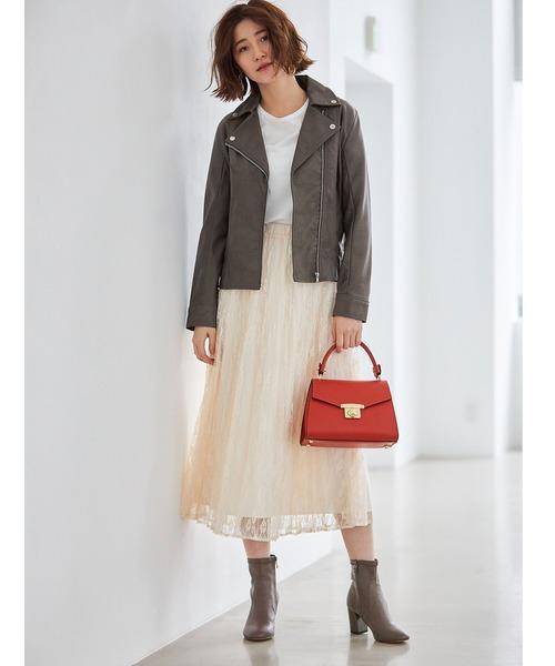 [tocco closet] 小花レースプリーツスカート