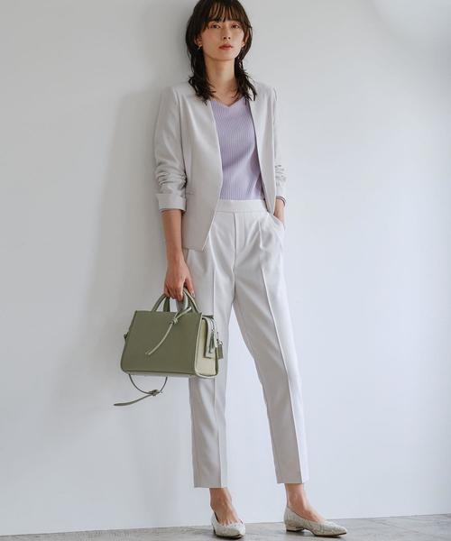 [green label relaxing] [手洗い可能/リシェオックス] ◆D ノーラペル ジャケット ◇No10◇