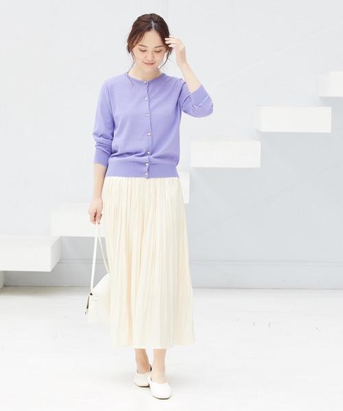 6月の軽井沢:シャイニースカートの服装