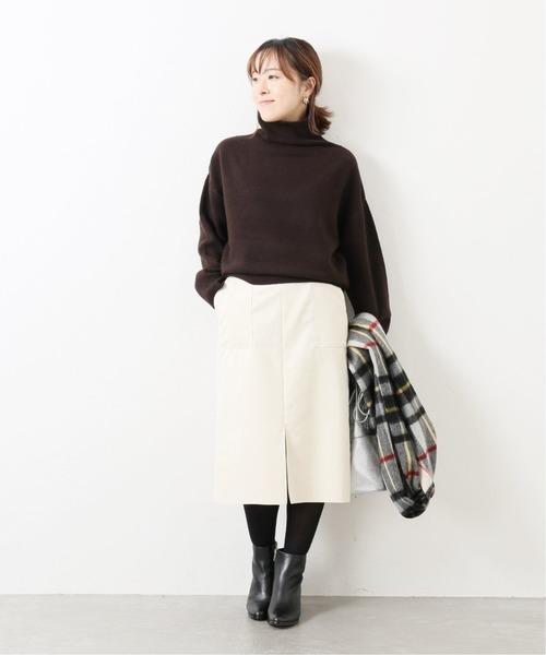 [La TOTALITE] フェイクスウェードタイトスカート【手洗い可能】◆