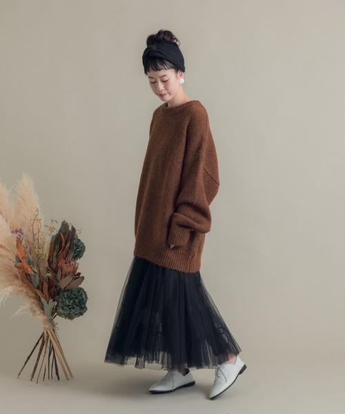 [Auntie Rosa] Libra チュールロングスカート